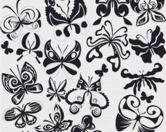 Beautiful Butterflies PDF Cross Stitch Pattern