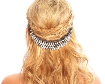 Crystal Hair Grip Headpiece