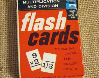 Vintage Flashcards Addition Math - Lot of 36 cards All to GO - Ed-u-cards 1960
