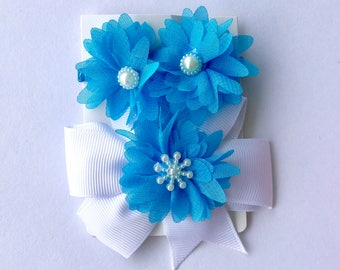 1 Set Chiffon Flower Hair Band and Hair Clip