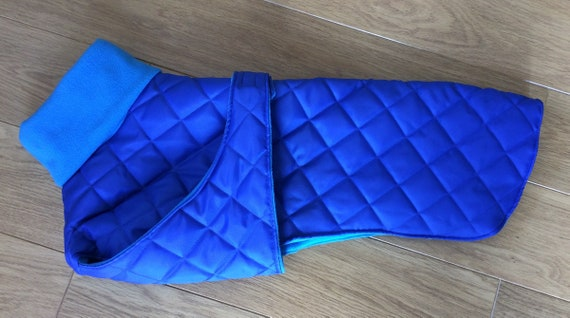Waterproof whippet coats with underbelly protection Royal blue. You will receive a tracking number with your order dispatch notification