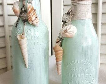 Seashore Bottles, Mermaid Love, Repurposed Bottles, Home Decorations, Altar Items
