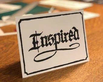 Inspired 5x7 Linocut Print