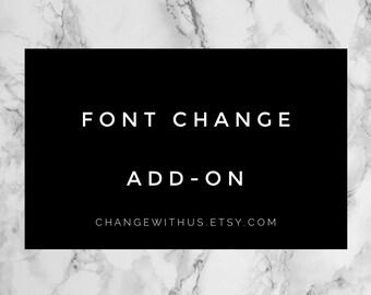 Font Change Add-On