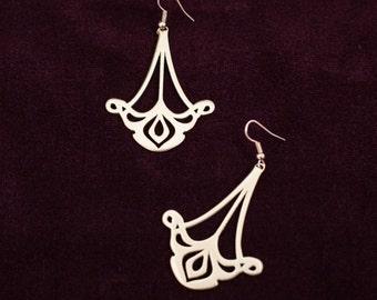 """Brass Earrings """"Art Nouveau""""; women's earrings; medieval earrings"""
