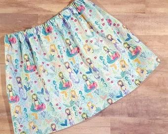 Mermaid skirt, glittery mermaid skirt, girls clothing, mermaid Birthday outfit, twirl skirt