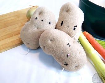 Potato Novelty plush, food plush, plushie, potato, food pillow, novelty pillow, potato gag gift