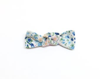 Spring Floral Mini Knot Bow
