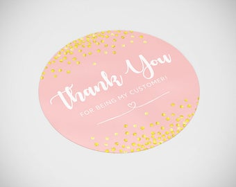 """NEW! Thank You Stickers 