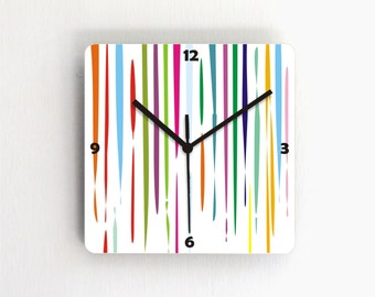 Dripping Fresh paint colorful modern wall clock