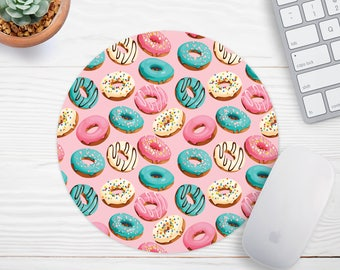 Donut Mouse Pad Pink Mousepad Funny Mouse Pad Coworker Gift Office Desk Accessories  Cubicle Decor  Gift for Boss Cute Office Supplies
