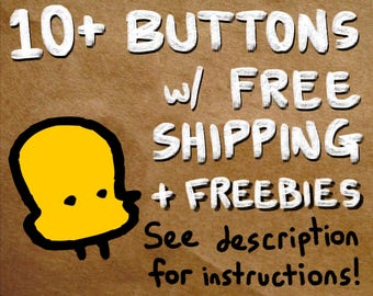 "10+ buttons with free shipping - see description for info on how to use. pin set lot of 1.25"" pinback badges button set"