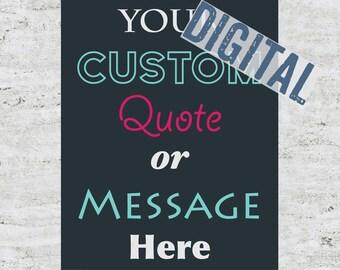 DIGITAL FILE: Custom Poster Design