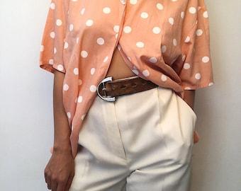 Wide pants beige / off white vintage high waist!
