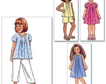 Butterick Pattern B4176 Children's/Girls' Top, Dress, Shorts and Pants