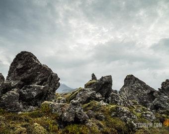 Mossy Volcanic Rocks  / Iceland / Landscape Photography