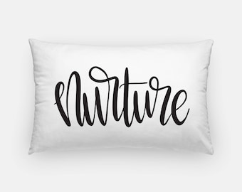 Handlettered Word of the Year - Lumbar Pillow
