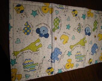 Set of 2 Flannel Burp Cloths