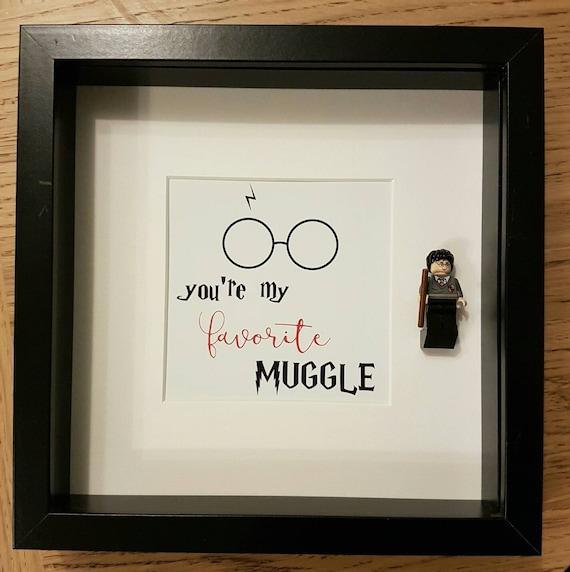 Valentines Harry Potter Lego Minifigure Display Frame - Gift Present ...
