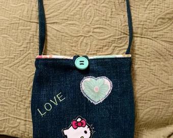 Toddler Denim Hello Kitty Patch Purse