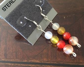 Genuine gemstone rounds glass beads