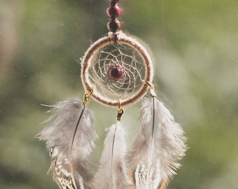 Dream catcher necklace Indian dreamcatcher with customizable feathers