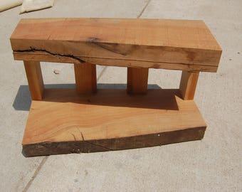 Rustic Live edge reclaimed barn wood entryway shelf/ keys mail notes