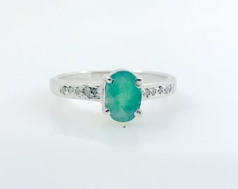 EMERALD RING, May birthstone , emerald cut ring, emerald engagement ring, oval emerald ring, antique emerald ring ,emerald jewellery