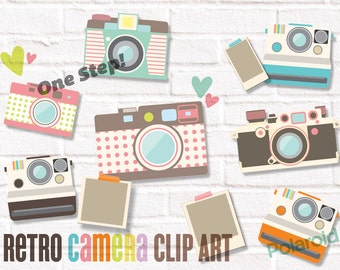 Camera Clip art Retro Cameras 1 JPEG, PNG files