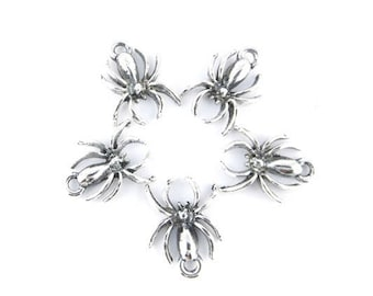 x 10 charms 18x14mm antique silver (87D) spider pendant