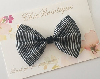 Black and White light sparkle Butterfly Bow