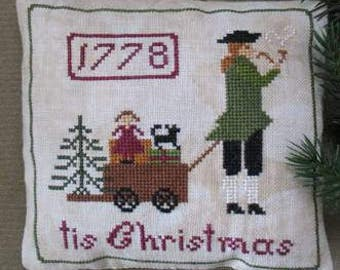 Primitive Cross Stitch Sampler Pattern pdf Tis Christmas 1778