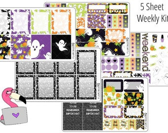 Halloween - Weekly Full Kit Planner Stickers