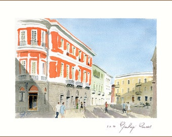 Eleonora Place, Oristano. Numbered and signed author print.