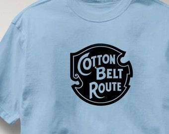 Cotton Belt Route T Shirt Vintage Logo Railroad Train Tee Shirt Mens Womens Ladies Youth Kids