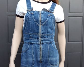70's  Denim Jumpsuit  Overalls Jumper  Vintage 70's Sz Small Waist up to 28  in
