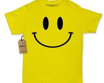 Big Smile Face Fun Emoticon Womens T-shirt