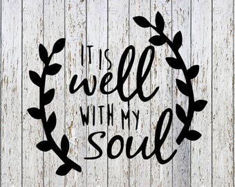 It Is Well With My Soul Decal
