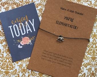 Make A Wish Bracelet / Charm Bracelet - You're Elephantastic!