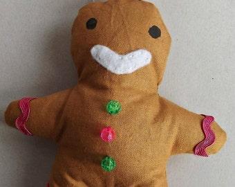 Gingerbread Man Tree Hanger Decoration Ornament Handmade Kitsch Shabby Chic