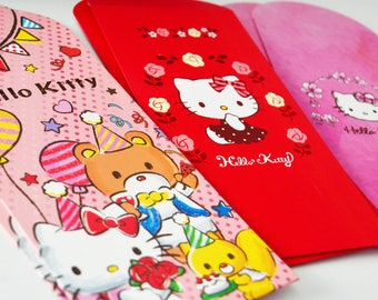 6 Assorted Hello Kitty Money Envelopes