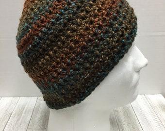 Crochet Beanie, Mens Beanie, Winter Hat