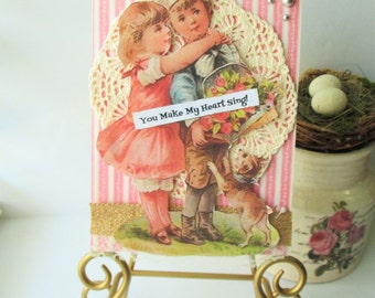 Anniversary Card Love Handmade Vintage Style Greeting Romance