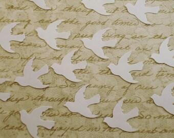 Funfetti Paper Confetti  Doves in  Snowy White