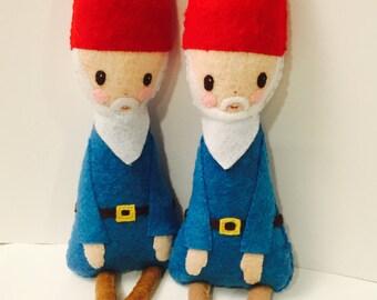 Gnome-Puppe. Gnome-Plushie. Waldland Puppe. Softie. Fühlte mich Doll.