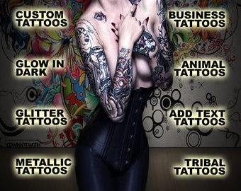 Custom Temporary Tattoo - Your logo or design