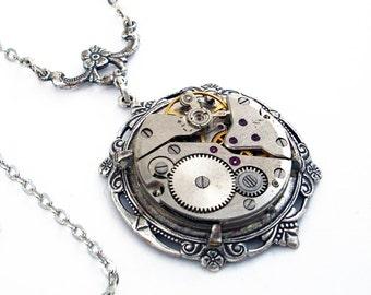 Gatsby - Silver Steampunk Necklace