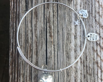 Fortune cookie charm bangle FREE SHIPPING
