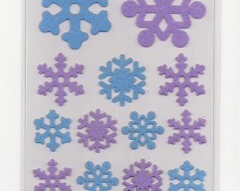 Scrapbooking * flakes * snow Winter Ski stickers felt Stickers