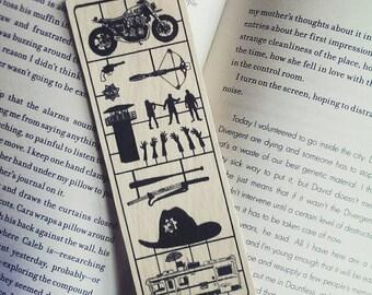 The Walking Dead, TWD Bookmark, Fix Art, panel art, Wooden Bookmark